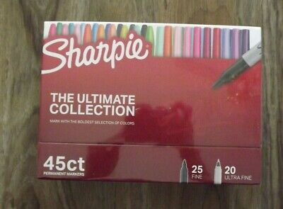 Sharpie The Ultimate Collection 45 Count Permanent Markers 25 Fine 20 Ultra Fine