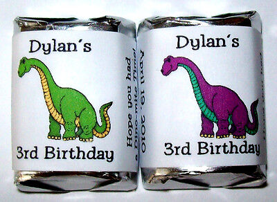 Dinosaur Favors (60 DINOSAUR BIRTHDAY PARTY CANDY WRAPPER)
