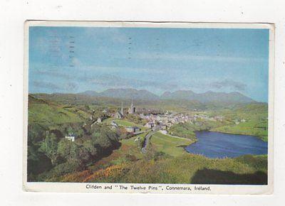 Clifden & The Twelve Pins Connemara Ireland 1961 Postcard 872a
