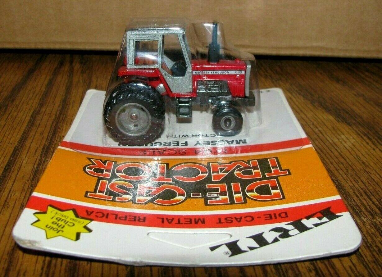 *Ertl 1/64 Massey Ferguson MF 699 Tractor w/ DUALS 1980s Toy 1129 Die Cast Metal