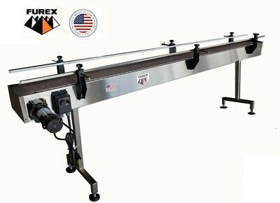 Furex Stainless Steel 10 X 7.5 Inline Conveyor With Plastic Table Top Belt