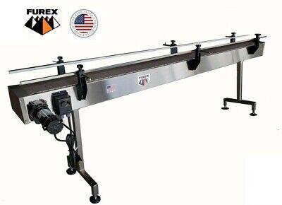 Furex Stainless Steel 12 X 7.5 Inline Conveyor With Plastic Table Top Belt