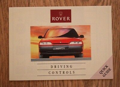 Rover Driving Controls Leaflet Quick Guide 200 Series