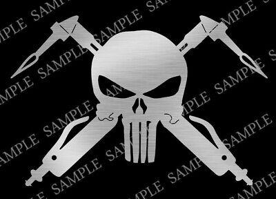 Dxf Cnc Plasma Laser Cut Ready Vector Punisher Welder Digital Art Garage Shop