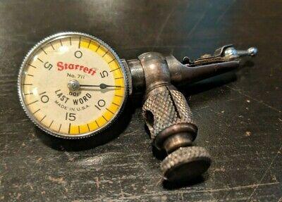 Starrett 711 Last Word Dial Indicator And Stem Holder - Used
