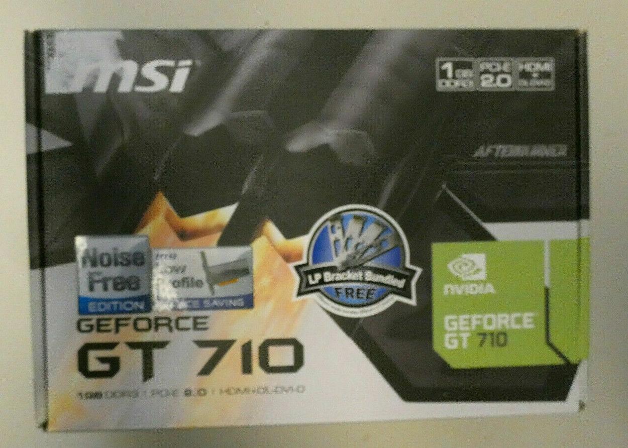 Grafikkarte MSI NVIDIA GeForce GT 710 1 GB DDR3 PCI-E 2.0 HDMI DL-DVI D PC-680