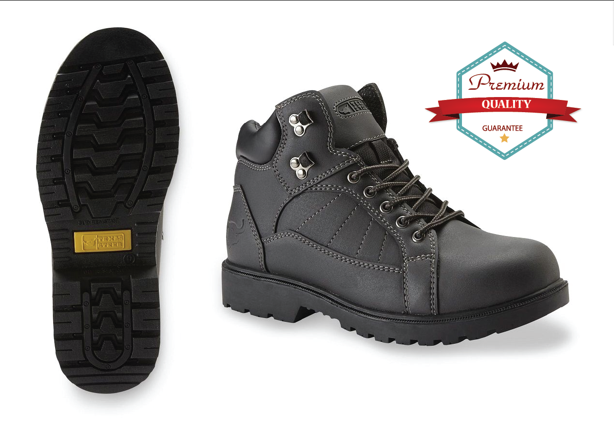 Soft Toe Work Boots Men's Shoes Safe Slip-Resistant Comforta