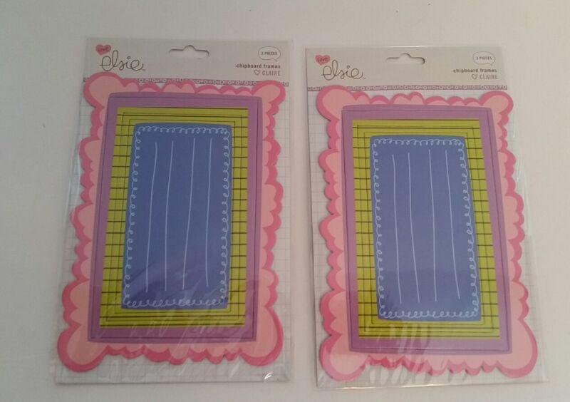 Chipboard Frames Scrapbooking KI Memories Claire Set #3 2 Pack lot 3 in each