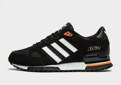 Adidas Originals ZX 750 Black-Orange Trainers All Sizes
