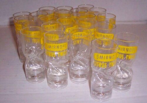 Lot of 23 Smirnoff  Vodka Citrus Twist Plastic Shot Glasses