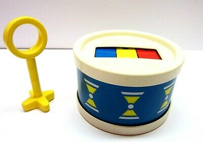 Vtg 1976 Fisher Price Drum Xylophone With Mallet Musical Toy