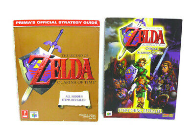 2 books The Legend of Zelda Ocarina of Time Official Strategy Guides nintendo 64