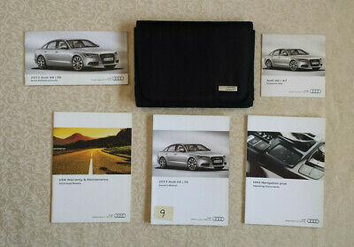 2013 Audi A6/S6 Owners Manual w/case