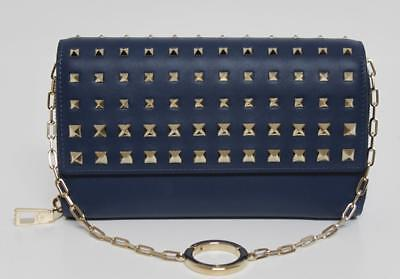 New Valentino Rockstud Wallet on Chain Degrade Leather Clutch Bag