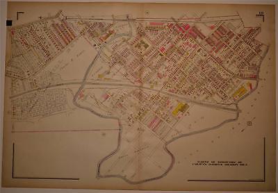 1929 Map Delaware County PA Hand Colored Frank H. M. Klinge B&O PB&W RR Railroad ()