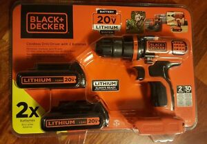 Black & Decker LDX120C-2 20V Lithium Ion 3/8