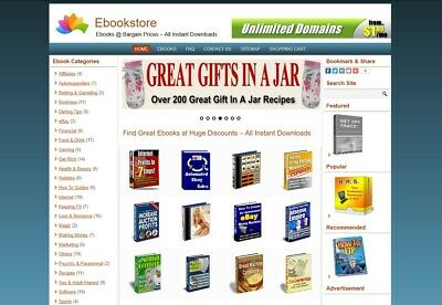 Ebookdownload Shop Website For Sale - 150 Ebooks Preloaded - Free Install