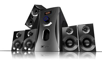 Surround-Sound-System 5.1 Cine en Casa 160 Vatios MP3 Radio Negro Altavoces