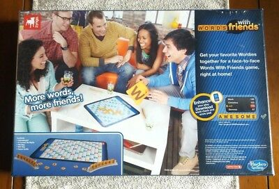 New Words With Friends Board Game Zynga 104 Scrabble Tiles Free Digital Code