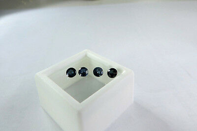 4 Loose Round Cut Natural Sri Lanka Sapphires. very nice :)  1.30cts