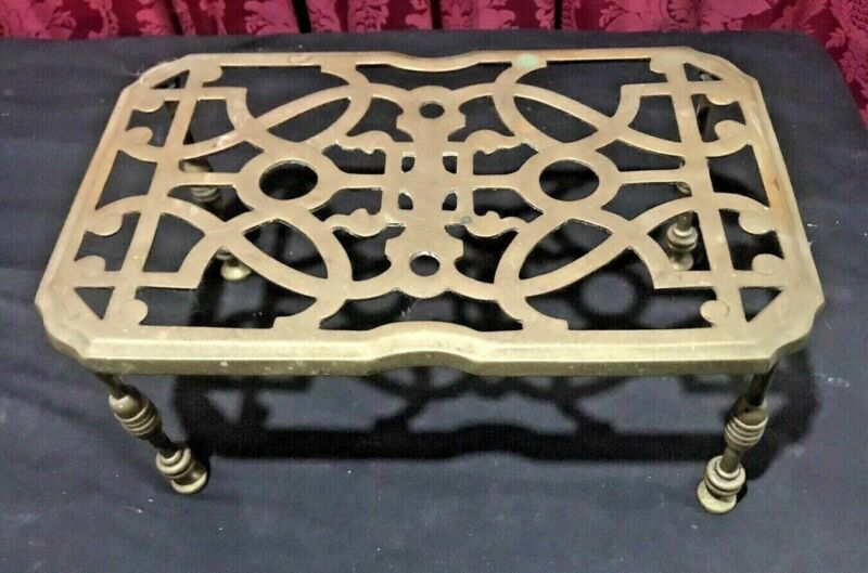 VINTAGE ANTIQUE COUNTRY KITCHEN FIREPLACE TRIVET WARMING STAND