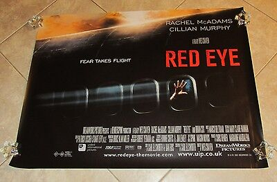 Red Eye Movie Poster - RED EYE movie poster CILLIAN MURPHY, RACHEL McADAMS, WES CRAVEN
