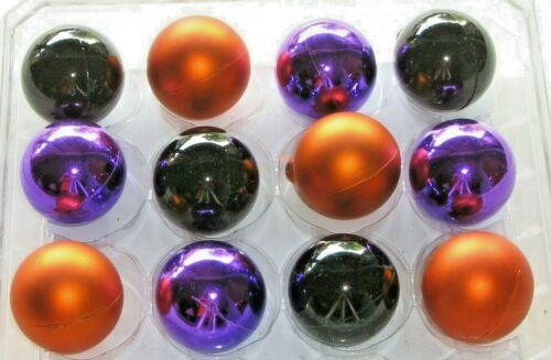 """Halloween Ornaments 12 Balls Mixed Colors Decorations Non Shatter 1 1/8"""" 29mm"""