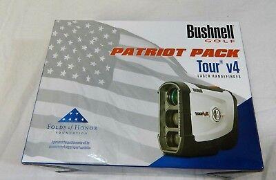 New Bushnell Tour V4 with Jolt Technology Laser Golf Rangefinder V 4 Patriot