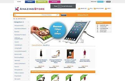 Auction Website Ebay Clone - Free Install Hosting