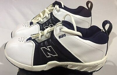 NIB New Balance 621- KB621WNG Low Basketball Shoes White & Navy Youth 4.5 Wide