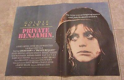 GOLDIE HAWN poster PRIVATE BENJAMIN  movie poster original UK Quad