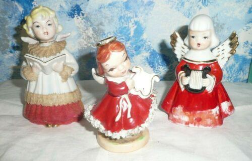 Vintage Decorative Three Christmas Angels
