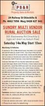 SUNDRY MULTI VENDOR RURAL AUCTION SALE Chinchilla Dalby Area Preview