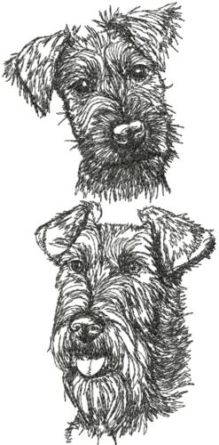IRISH TERRIER  Dog Breed Bathroom SET OF 2 HAND TOWELS EMBROIDERED