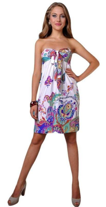 Strapless Beach Dress - eBay