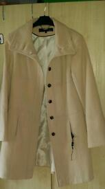 Next beige winter coat size 14