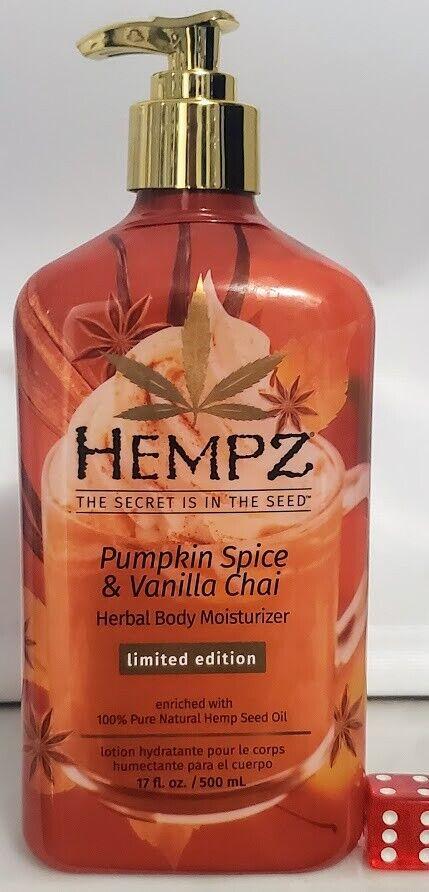 Hempz Pumpkin Spice & Vanilla Chai Herbal Body Moisturizer 1