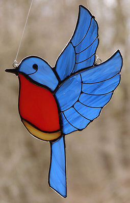Stained Glass Bluebird Sun Catcher Bluebird Stained Glass Suncatcher