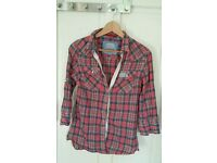 Superdry size M checkered shirt