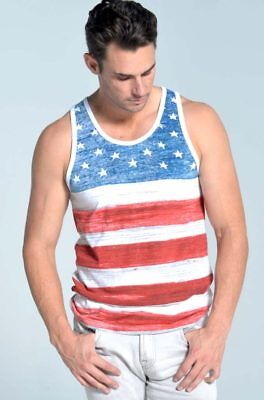 Old Glory American Flag Men's Tank Top USA all over flag print 2 Colors  - Old Glory American Flag