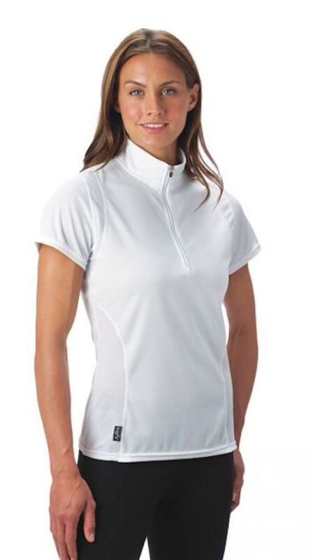 Kerrits Ice Fil Tech Shortsleeve Shirt-White-1X