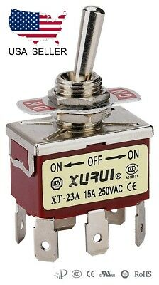 Heavy Duty Dpdt On-off-on Toggle Switch 20a 125v 15a 250v Spade Terminals 23a