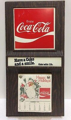 Original 1979 Enjoy Coca-Cola Holiday Calendar