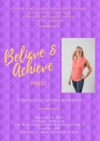 FREE Event: Believe & Achieve Goal Setting workshop