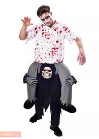 Men's grim reaper piggy back Halloween costume