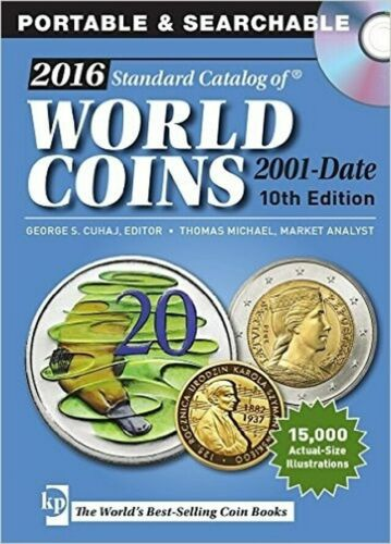 2016 Standard Catalog of World Coins 2001-Date by George Cuhaj - CD, Krause Publ