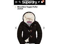 Superdry coat No Toggles plain black XXS