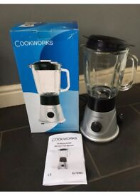 Cookworks Silver Lrg Glass Blender (With Replaced Measure Lid)
