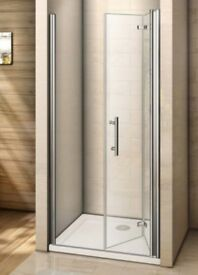 760mm Bi-fold shower glass for wet room RRP £129