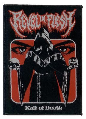 Revel In Flesh Woven Patch Cult Of Death Woven Sew On Patch Teutonic Death Metal